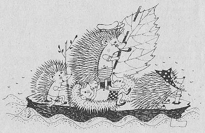 На паруснике, Eine Segelbootpartie