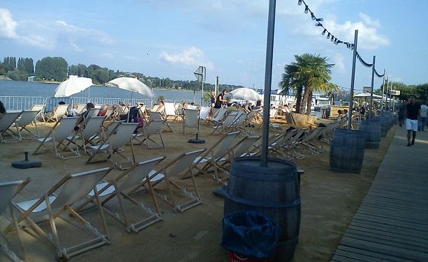 Майнц. Пляж.