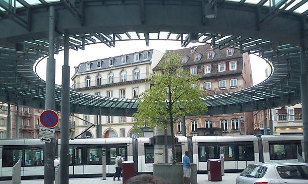 Страсбург. Трамвай вместо метро.