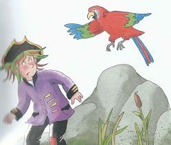 Aufgeregter Papagei