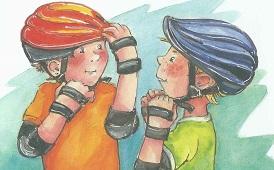 Mit Schuetzern und Helmen
