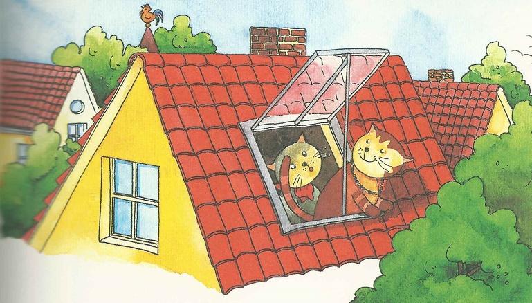 Aus der Dachluke