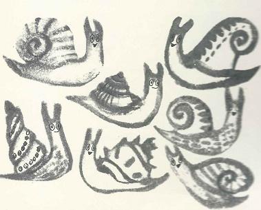 Sieben Schnecken