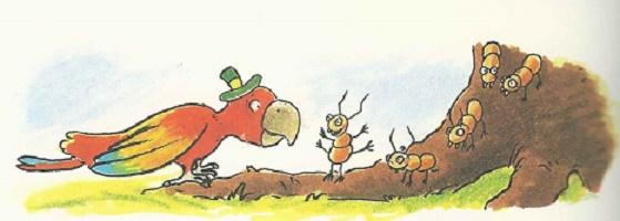 Ameisen in grosser Eile