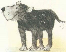 Der schwarze Riesenhund