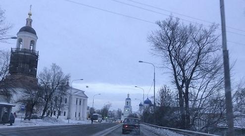 При выезде из Владимира