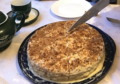 И фирменный пирог.