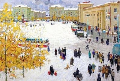 Зимняя Самара. Картина.
